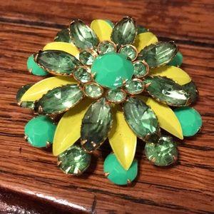 Colorful flower brooch